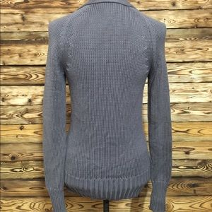 J. Crew Sweaters - J Crew Gray Knit Button Up Sweater With Pockets